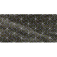Декор Crystal Fractal чёрный 30х60
