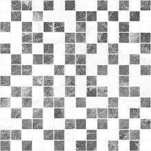 Мозаика Crystal серый+белый 30х30