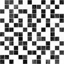 Мозаика Crystal чёрный+белый 30х30