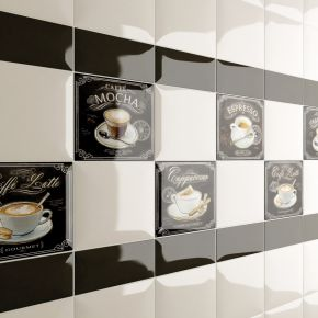 Коллекция Amadis Fine Tiles Bird/Coffee/Wine в интерьере