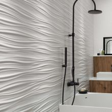 3D White Wall