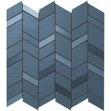 MEK Blue Mosaico Chevron Wall