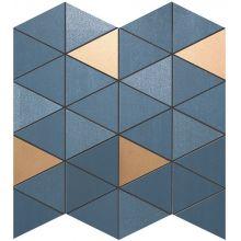 MEK Blue Mosaico Diamond Gold Wall