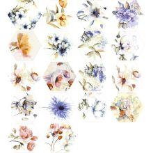 TOSCANA  Flores Acuarelas mix