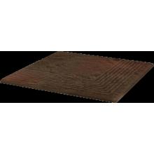 Semir Brown Ступень угловая структурная 30х30