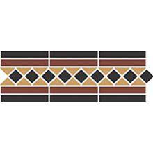 Бордюр керамический Border GUILFORD 2 Strip Stand.(Dot14, Tr.1/2 21, Strip 20+14) 42х14,5 см