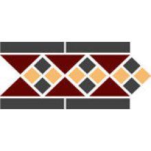 Бордюр керамический Border LISBON with 1 strip (Tr.20, Dots 14+21, Strips 14) 28х15 см