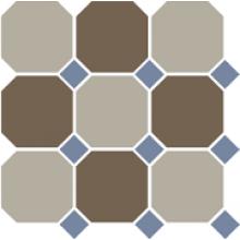 Гранит керамический 4401+29 OCT11-A Beige 01 Coffe Brown 29 OCTAGON/Blue Cobalt 11 Dots 30x30 см