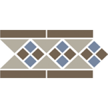 Бордюр керамический Border LISBON with 1 strip (Tr.01, Dots 29+11, Strips 29) 28х15 см