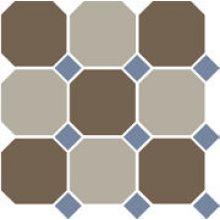 Гранит керамический 4429+01 OCT11-B Coffe Brown 29 Beige 01 OCTAGON/Blue Cobalt 11 Dots 30x30 см
