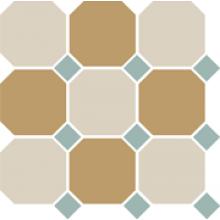 Гранит керамический 4416+03 OCT13-B White 16 Yellow 03 OCTAGON/Turquoise 13 Dots 30x30 см