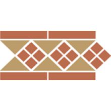 Бордюр керамический Border LISBON-1 with 1 strip (Tr.03, Dots 04, Strips 04) 28х15 см