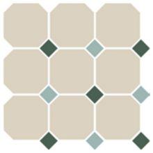 Гранит керамический 4416 OCT18+13-B White OCTAGON 16/Green 18 + Turquoise 13 Dots 30x30 см