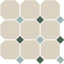 Гранит керамический 4416 OCT13+18-A White OCTAGON 16/Turquoise 13 + Green 18 Dots 30x30 см