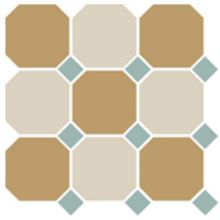 Гранит керамический 4403+16 OCT13-A Yellow 03 White 16 OCTAGON/Turquoise 13 Dots 30x30 см