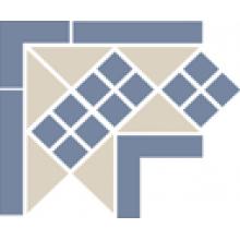 Угол керамический Corner LISBON with 1 strip (Tr.16, Dots 11, Strips 11) 21,5х21,5х15 см
