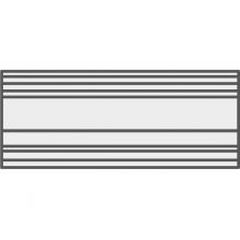Бордюр R4JN Brick Glossy Matita Copribordo White 2,5х30