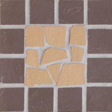 Вставка мозаичная из клинкера (на сетке) Star/Звезда Ecoclinker 15х15