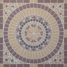 Round/Круг мозаика клинкерная (на сетке) Ecoclinker 100х100