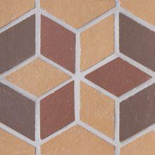 Вставка мозаичная из клинкера (на сетке)  Flower/Цветок Ecoclinker 15х15
