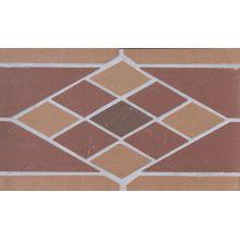 Подступенник мозаичный из клинкера (на сетке) Rhomb/Ромб Ecoclinker 25х15