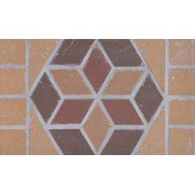 Подступенник мозаичный из клинкера (на сетке) Flower/Цветок  Ecoclinker 25х15