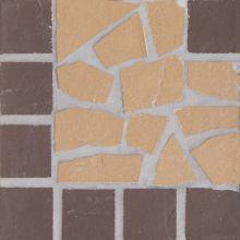 Угловая вставка мозаичная из клинкера (на сетке) Star/Звезда Ecoclinker 15х15
