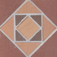 Вставка мозаичная из клинкера (на сетке)  Square/Квадрат Ecoclinker 15х15