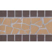 Подступенник мозаичный из клинкера (на сетке)  Star/Звезда Ecoclinker 25х15