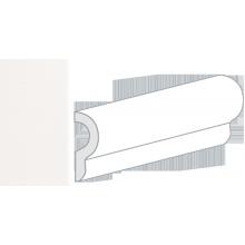 Бордюр керамический настенный 25046 CRACKLE LONDON White 5x15 см