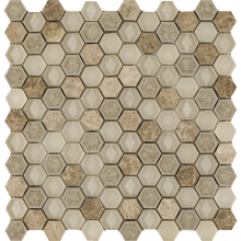 L244006231 Aura Hexagon Creams 29x30x0,8