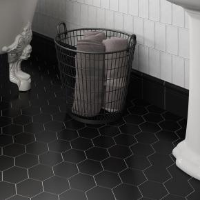 Коллекция Equipe Ceramicas Hexagon Scale Porcelanico в интерьере