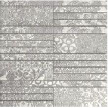 Walk Вставка 41302 Bianco/Silver mosaic 33.3x33.3