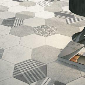 Коллекция Equipe Ceramicas Hexatile Cement в интерьере