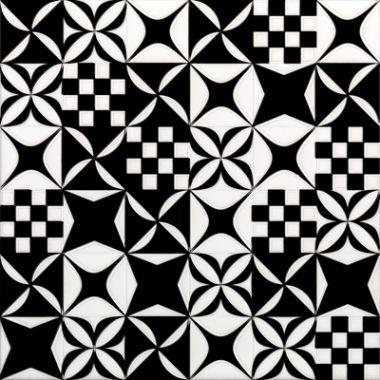 20*20 Decor Black&White Mix 9 mm декоративная керамическая плитка