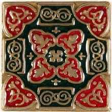 Вставка из бронзы с эмалью Kavarti Persia 1658 5x5