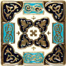 Вставка из бронзы с эмалью Kavarti Persia 1655 5x5