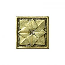 Roseta Shined Brass 5x5